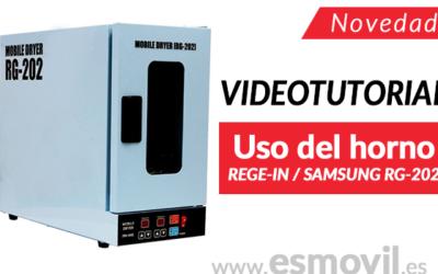 Videotutorial de uso del horno REGE-IN / SAMSUNG RG-202 para despegue de pantallas